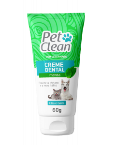 Creme Dental Pet Clean Sabor Menta - 60g