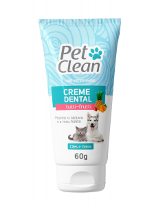 Creme Dental Pet Clean Sabor Tutti-Frutti - 60g